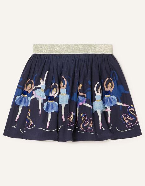 Embroidered Ballerina Skirt Blue, Blue (NAVY), large