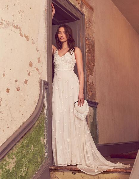 Kate Beaded Floral Bridal Dress Ivory, Ivory (IVORY), large