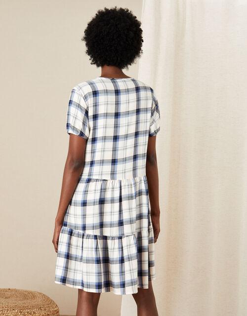 Check Print Tunic Dress, Ivory (IVORY), large