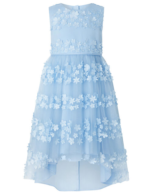 Pretty Petal High-Low Occasion Dress, Blue (BLUE), large