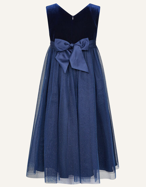Lilly Velvet Maxi Dress , Blue (NAVY), large