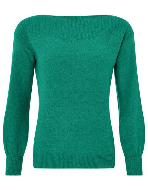 Grace Soft Knit Jumper, Green (GREEN), large