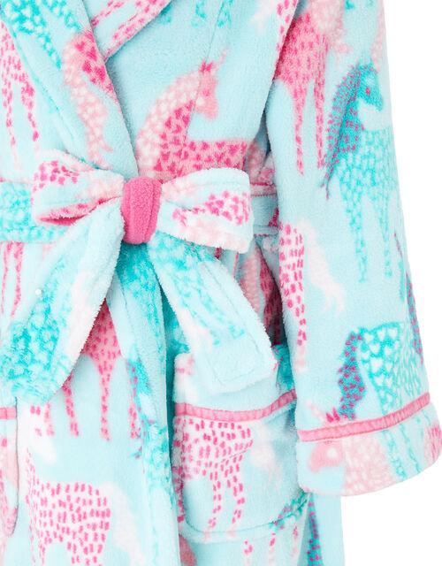 Chunky Unicorn Robe with Recycled Fabric, Blue (AQUA), large