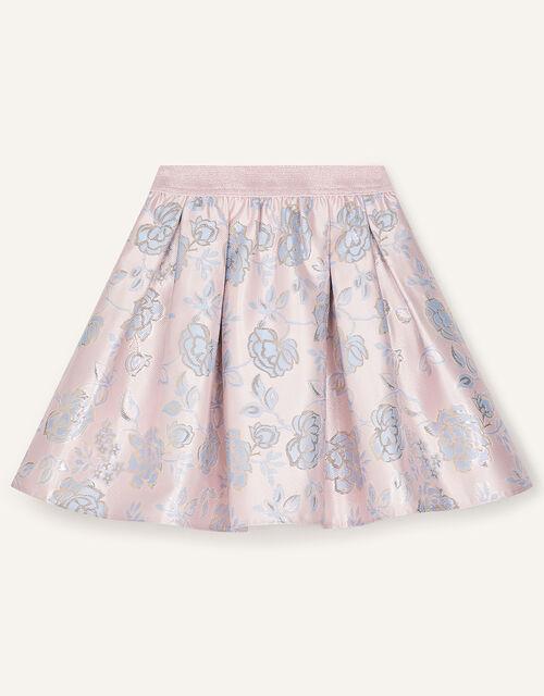 Vivien Floral Jacquard Skirt, Pink (PINK), large
