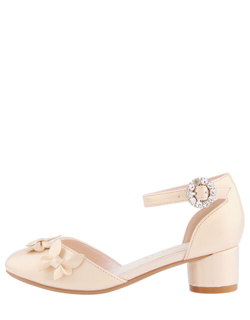 Butterfly Patent Two-Part Heeled Shoes, Pink (PINK), large