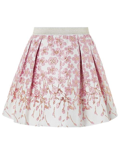 Petal Jacquard Skirt, Pink (PINK), large