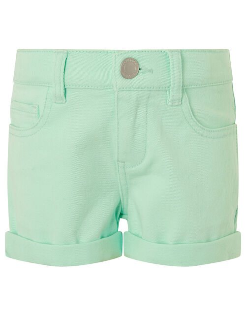 Denim Shorts, Blue (AQUA), large