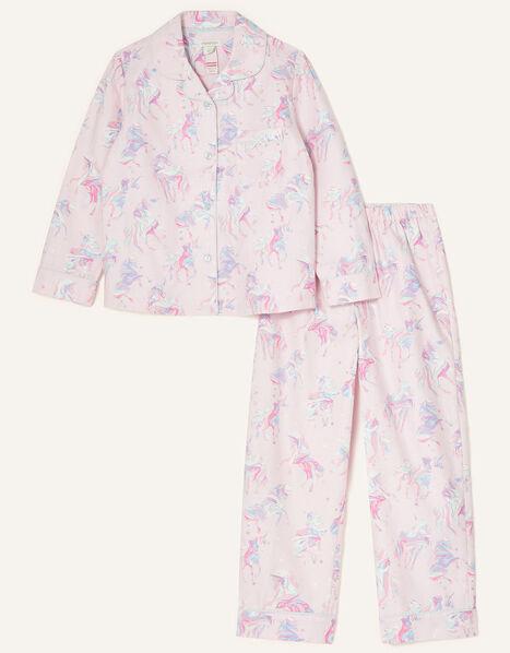 Ada Unicorn Flannel Pyjama Set Pink, Pink (PINK), large