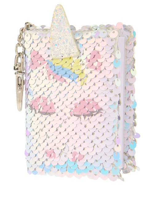 Sequin Unicorn Mini Notebook Charm, , large