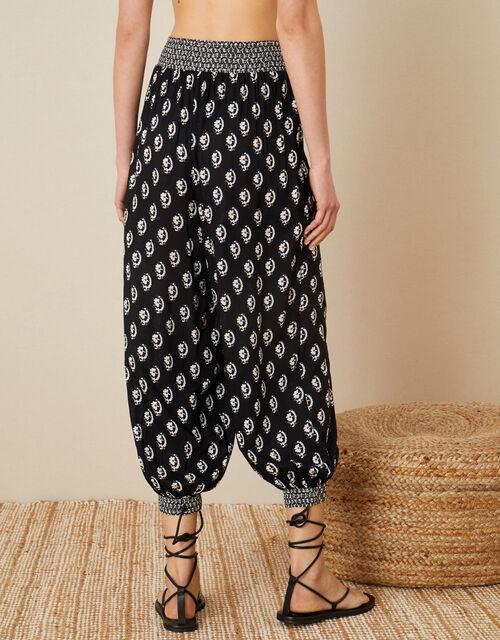Rori Printed Hareem Trousers, Black (BLACK), large