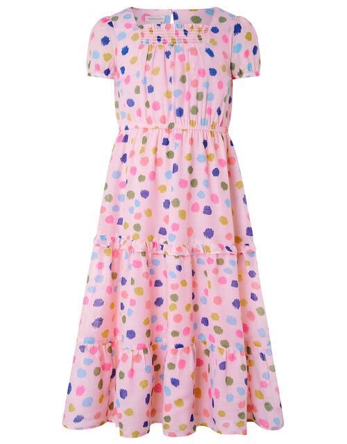 Naomi Colourful Splodge Dress, Pink (PINK), large