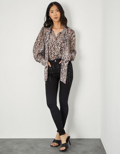 Nadine Sparkle Regular Length Jeans with Organic Cotton Black, Black (BLACK), large