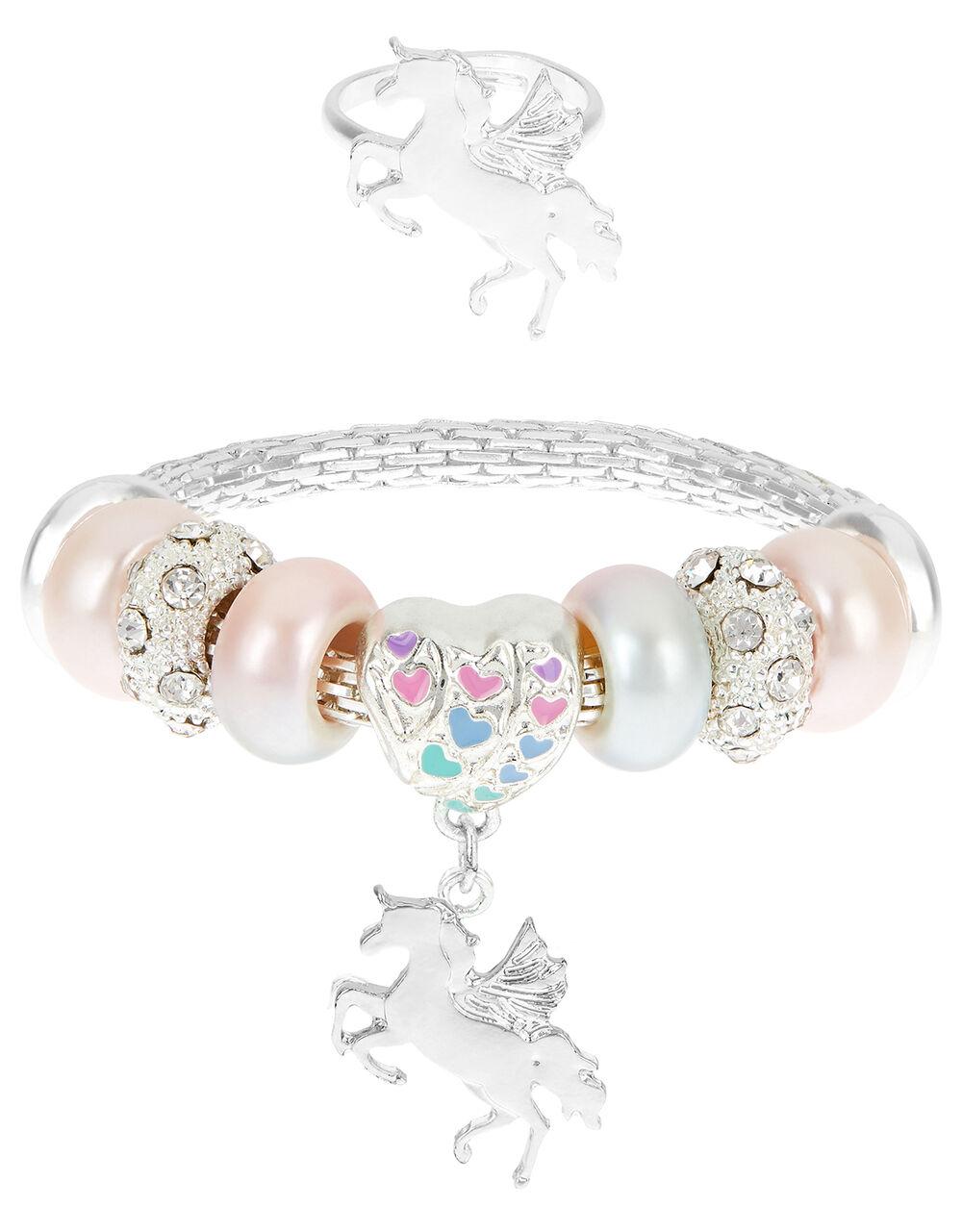 Colour Blast Trinket Bracelet and Ring Set, , large