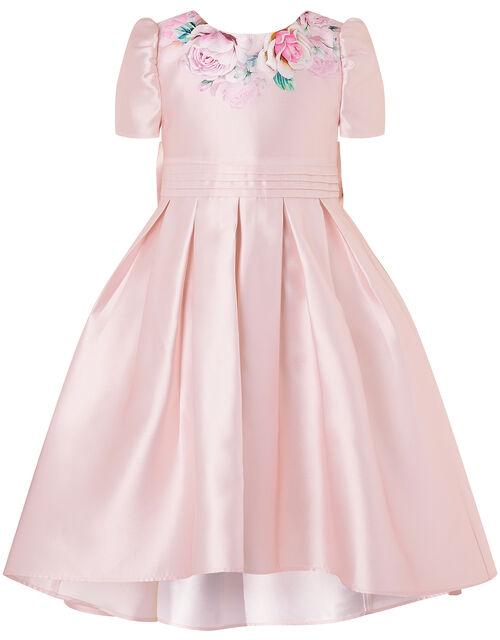 Floral Print Hi-Low Dress, Pink (PINK), large