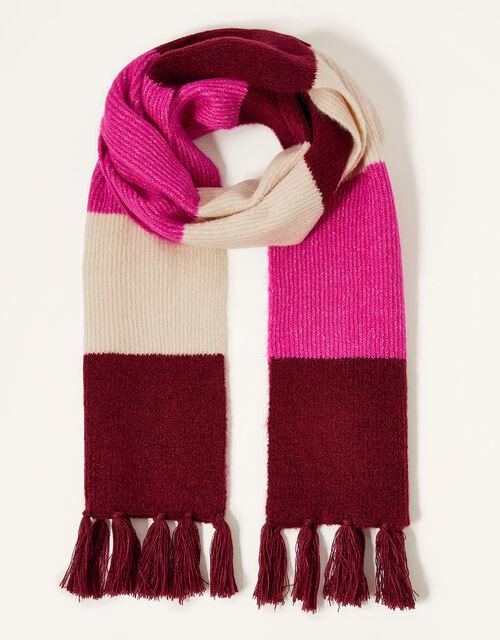 Stripe Knit Scarf, , large