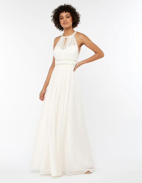 Eleanor Embellished Grecian Wedding Dress Ivory, Ivory (IVORY), large
