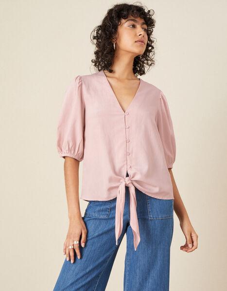 Balloon Sleeve Blouse  Pink, Pink (PINK), large