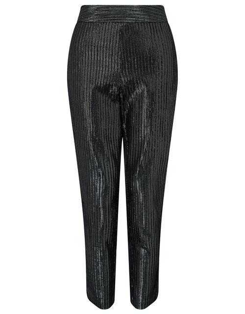 Mizzy Metallic Slim Fit Trousers, Silver, large