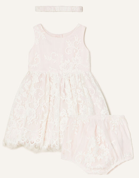 Newborn Valeria Lace Set Pink, Pink (PINK), large