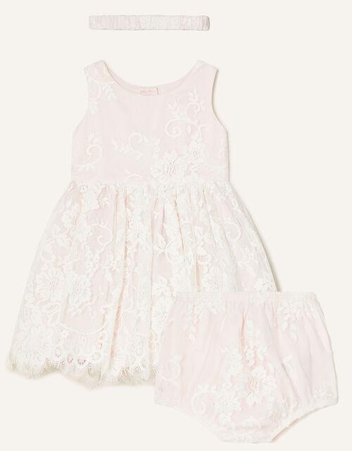 Newborn Valeria Lace Set, Pink (PINK), large