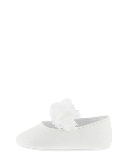 Shimmer Corsage Booties, Ivory (IVORY), large