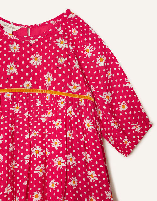 Daisy Spot Dress with LENZING™ ECOVERO™, Red (RED), large