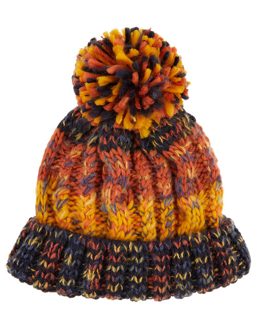 Glen Chunky Cable Knit Beanie, Multi (MULTI), large