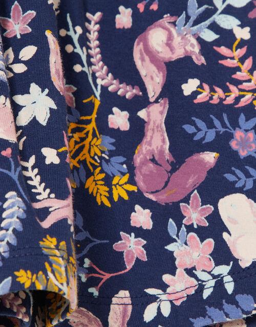 Baby Woodland Print Jersey Dress , Blue (NAVY), large
