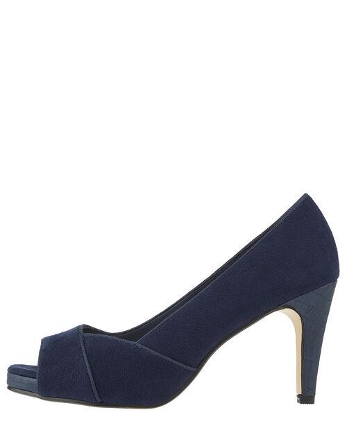 Nova Court Shoes, Navy, large