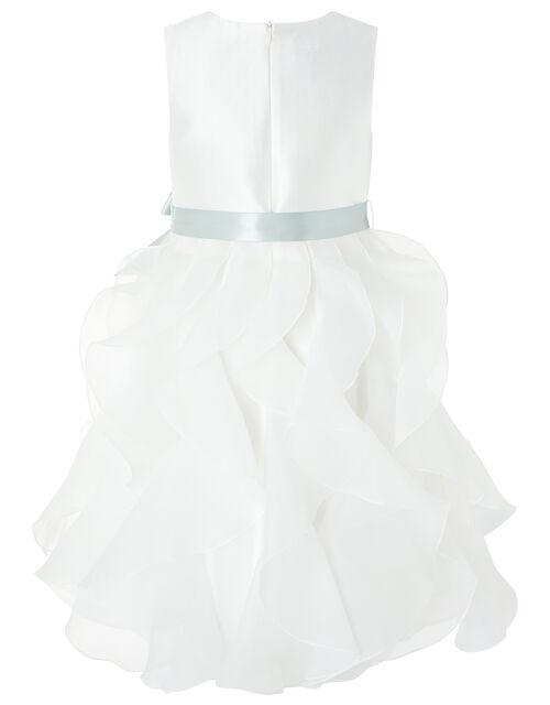 Cannes Organza Ruffle Dress, Ivory (IVORY), large