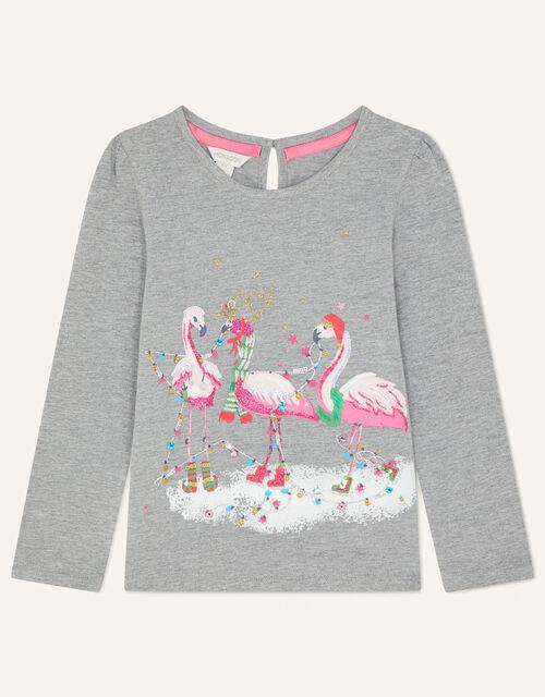 Flamingo Jersey Top, Grey (GREY), large