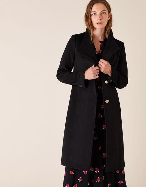 Ruby Long Coat Black, Black (BLACK), large