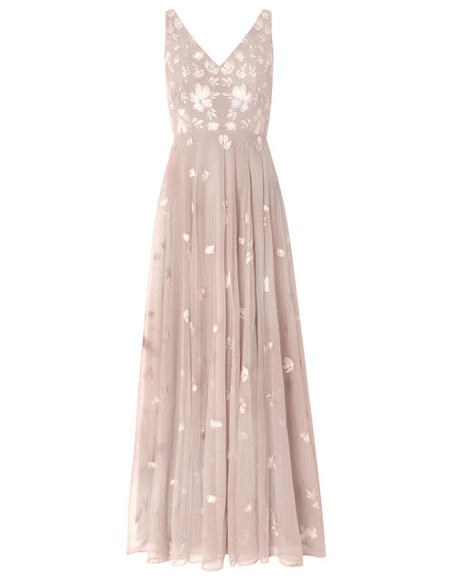 Clemence Embroidered Maxi Dress, Pink (PINK), large