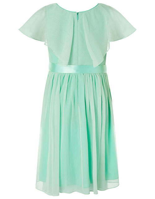 Ellie Sequin Cape Maxi Dress, Green (MINT), large