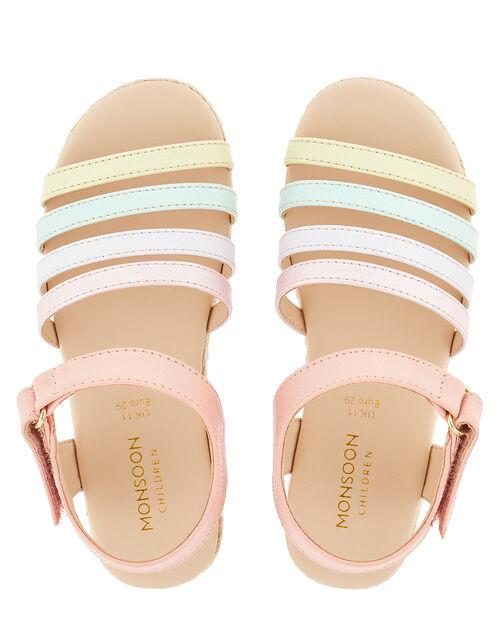 Sparkle Rainbow Espadrille Sandals, Multi (MULTI), large