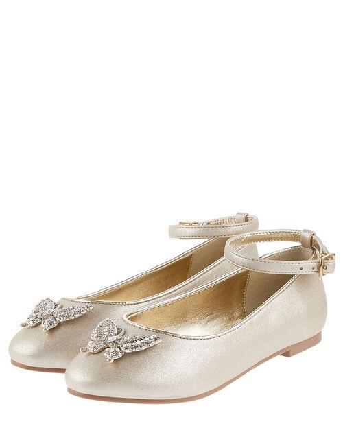 Butterfly Ballerina Flats , Gold (GOLD), large