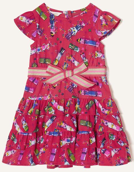 Baby Christmas Cracker Rara Dress  Red, Red (RED), large