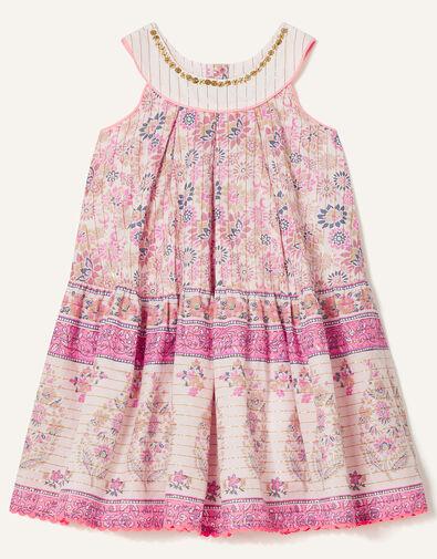 Baby Woodblock Print Dress Purple, Purple (LILAC), large