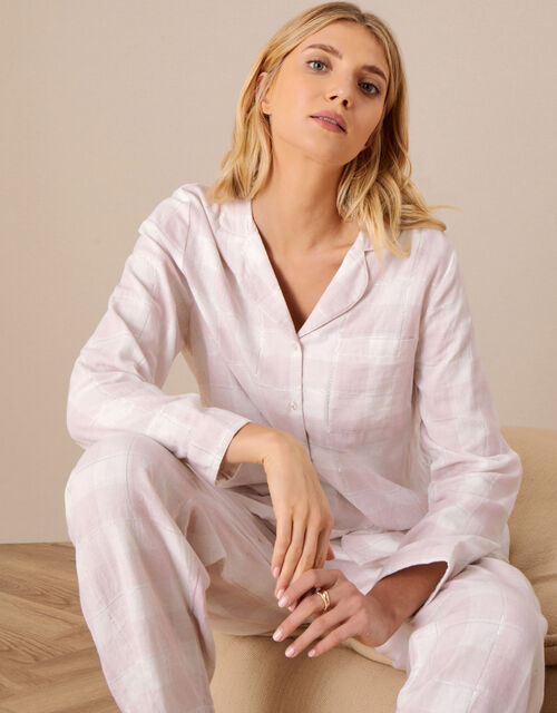 Relaxed Checked Shirt, Pink (BLUSH), large