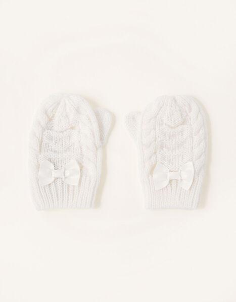 Grace Sparkle Heart Mittens Ivory, Ivory (IVORY), large