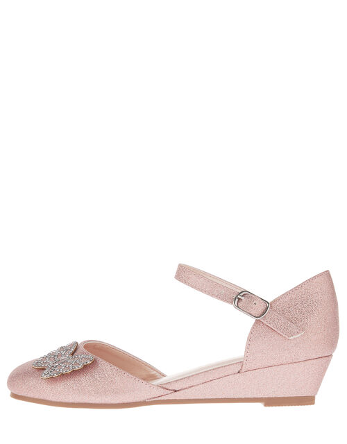 Nina Diamanté Butterfly Wedges, Pink (PINK), large
