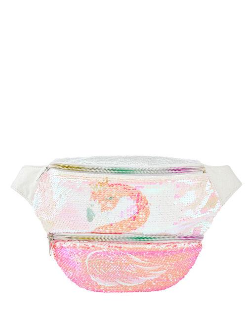 Reversible Flamingo and Swan Belt Bag, , large