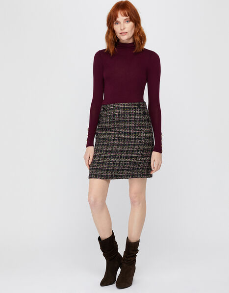 Felissa Tweed Mini Skirt Purple, Purple (PURPLE), large
