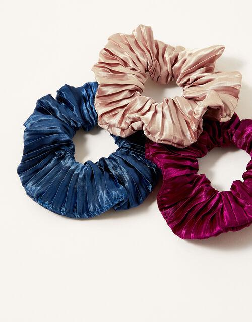 School Pleated Scrunchie Set, , large