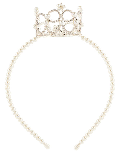Hayley Pearl and Sparkle Crown Headband, , large
