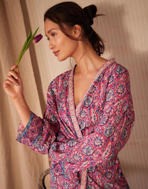 ARTISAN STUDIO Printed Kimono, Pink (PINK), large