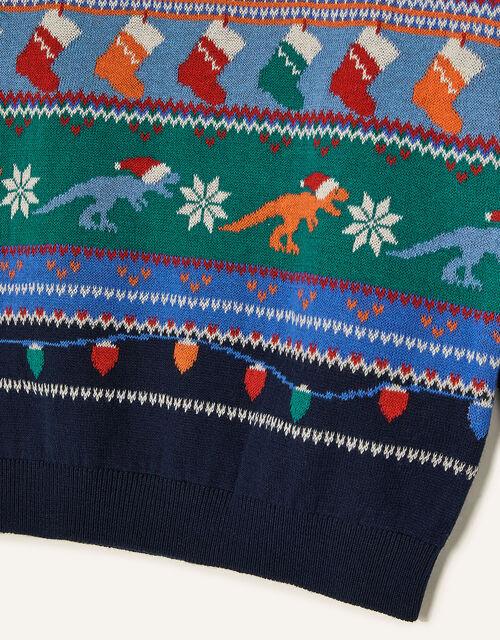 Christmas Dinosaur Jumper, Multi (MULTI), large