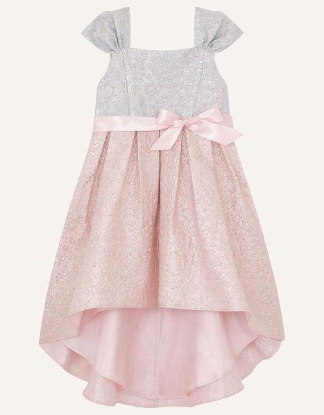 Isabelle Colourblock Jacquard Dress Multi, Multi (MULTI), large