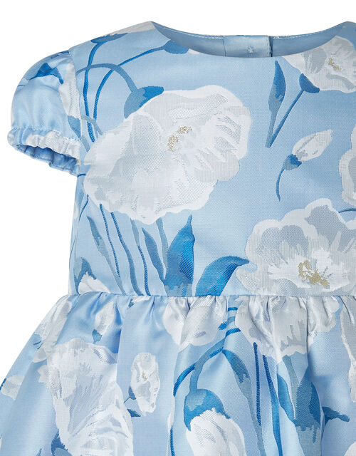 Baby Naya Jacquard Occasion Dress, Blue (BLUE), large