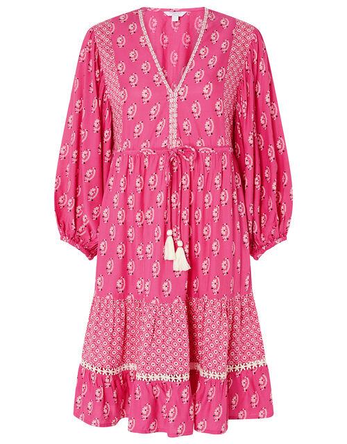 Daisy Printed Tunic Dress, Pink (PINK), large